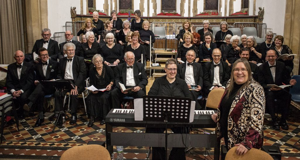 The choir at the recent Christmas Concert
